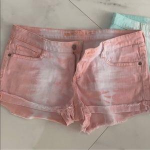 Tie-Dye jean shorts